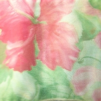 Pink Hawaiian Print w/ Green
